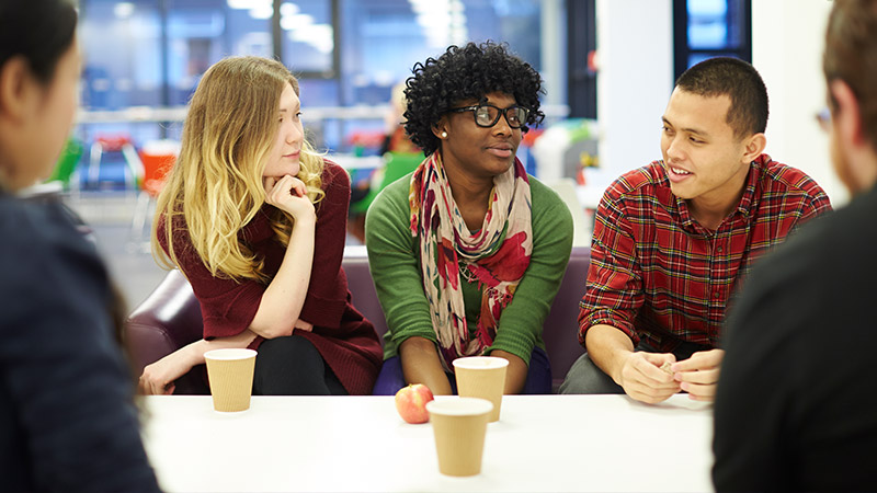 Group of students in conversation