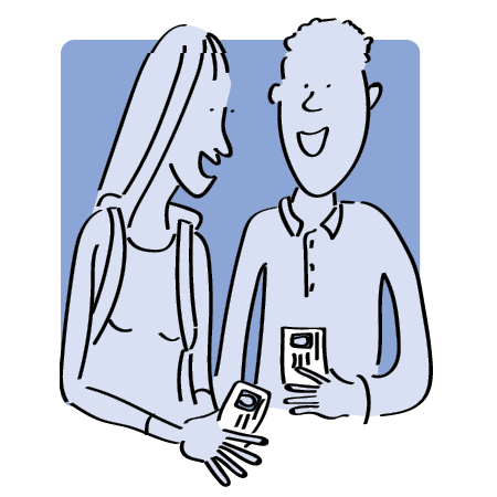 Cartoon of two students