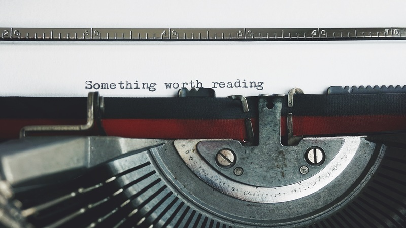 Typewritten text saying something worth reading