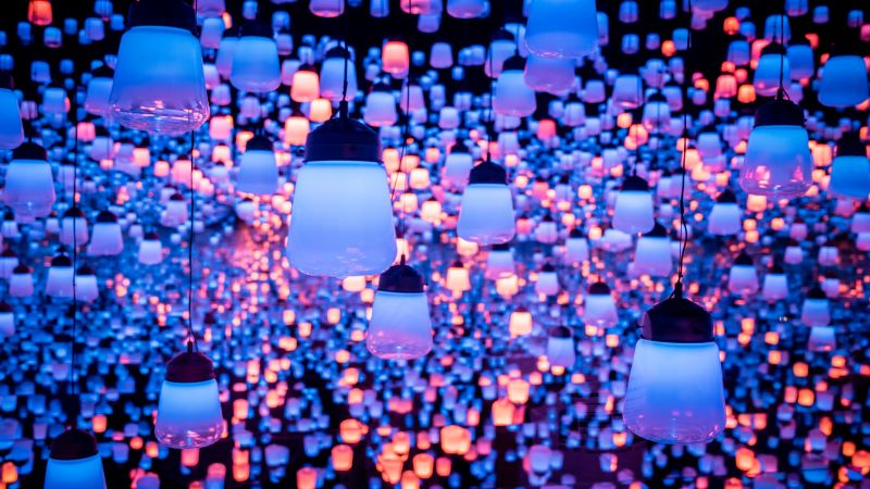 Light display at Mori digital art museum, Tokyo