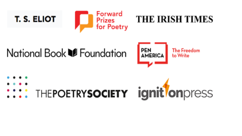 Poetry prize shortlist logos