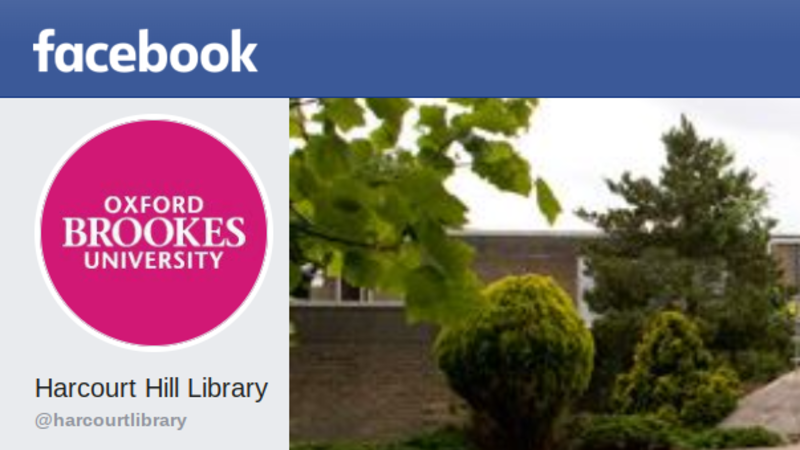 Harcourt Hill Library's Facebook banner