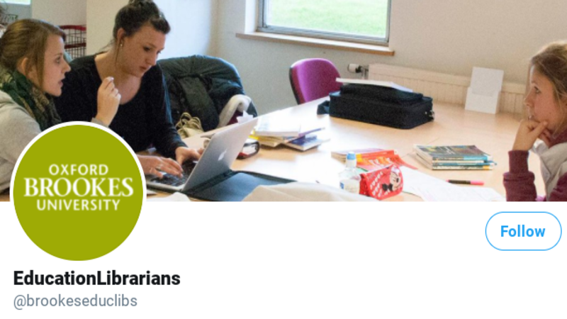 Brookes Education Librarians' Twitter banner