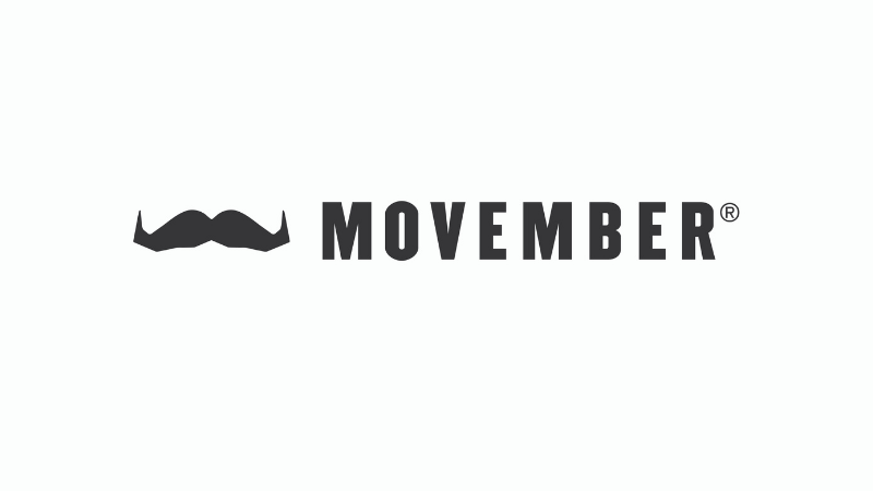 Movember logo - a black moustache on a white background