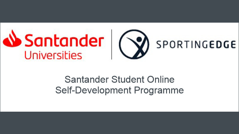 Santander Universities and Sporting Edge logos on a white and grey background