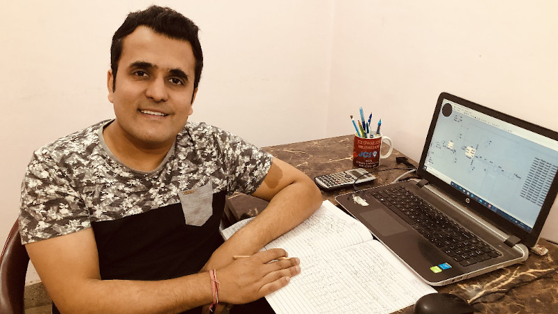 Dr Saurabh Khandelwal at his desk